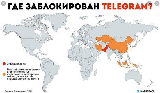страны блокирующие Телеграмм
