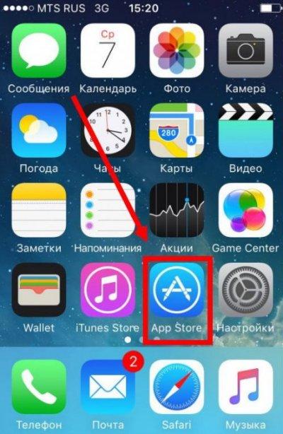 AppStore на айфоне